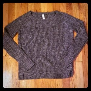 3/$25  Gray Loose Knit Sweater Aeropostale XS